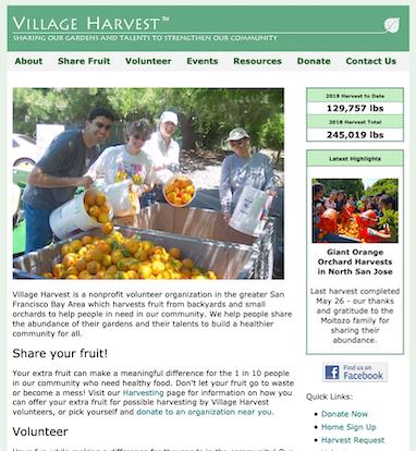 Prior Village Harvest website home page