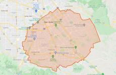 Oriental Fruit Fly Quarantine Zone, San Jose area Oct 2021